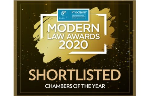 """PSQB shortlisted for """"Chambers of the Year"""" at the 2020 Modern Law Awards image"""