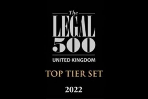 The Legal 500 UK Bar 2022 edition announced – PSQB recommended as Top Tier Set in 4 practice areas – 51 individual barristers ranked image
