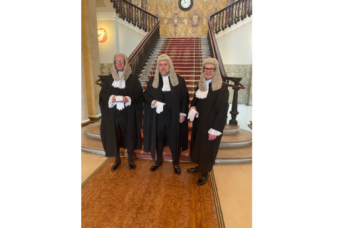 New Legal Year – Richard Wright QC, Mark McKone QC and Craig Hassall QC attend Westminster Hall image